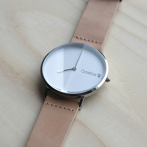 O-Time Watch Nature with White Dial