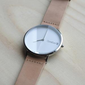 O-Time Armbandsur Natur med Vit Urtavla