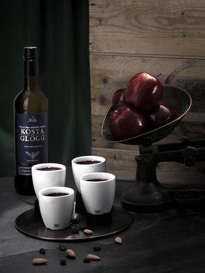 Bruk Espressomugg Glögg Vit 4-pack - Kosta Boda