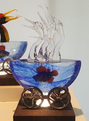 Mini-ark Birds Clear Chatter - Kosta Boda
