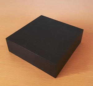 Base in Wood Black 10 cm