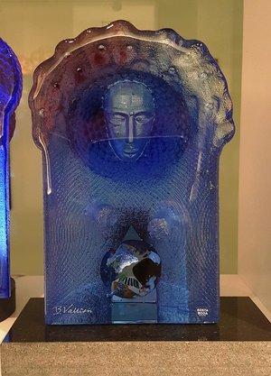 Blue Sculpture Planet