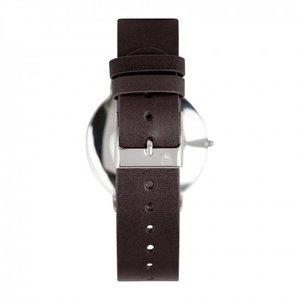 O-Time Watch Dark Brown with Gun-colored Dial - Orrefors Unisex Clock