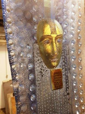 Watcher Big with Gold head Unique- Kosta Boda