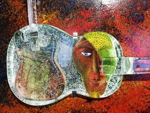Tavla Gitarr Rock N' Roll Meets Classic Music - Kosta Boda