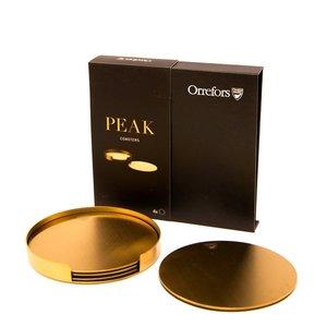 Peak Glasunderlägg Guld med hållare 4-pack - Orrefors