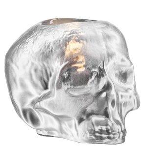 Still Life Votive Silver Skull - Kosta Boda