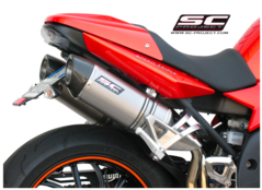 SC-project - Oval Silencer High position Titanium with carbon cap