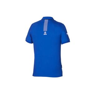 Paddock Blue Pique Polo - Herr