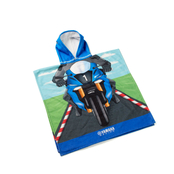 Barnponcho-handduk inspirerad av Yamaha Racing-förare
