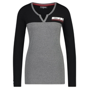 REVS Women's Long Sleeve T-shirt - Grå/Svart