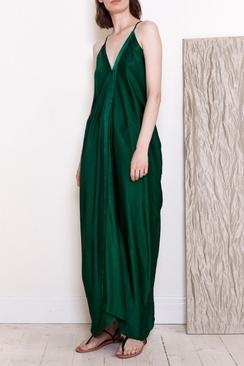 Long Strap Dress Green