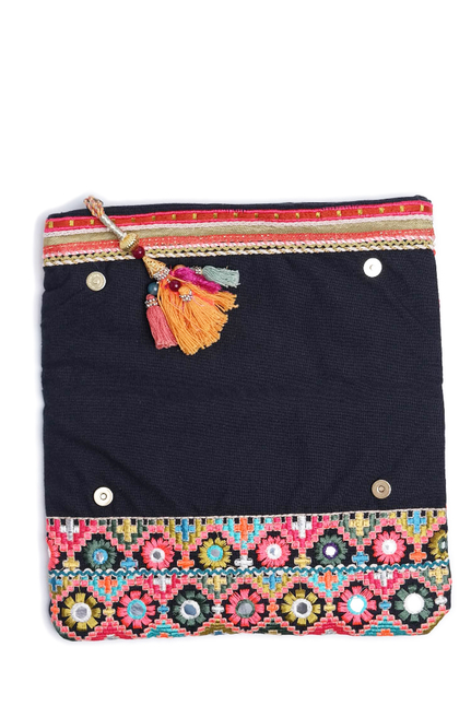 Star Mela Large Clutch Navy