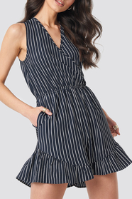 Fatima Stripe Playsuit
