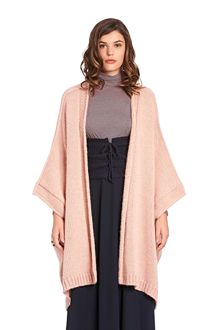 Wool Knit  And Alpaca Blend Cape