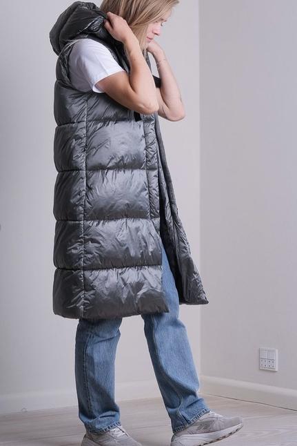 Manny Metal Puffer Waistcoat