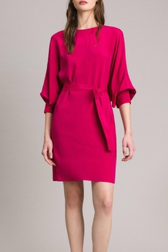 Silk blend tunic dress
