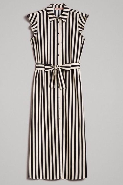 Poplin Striped Shirt Dress