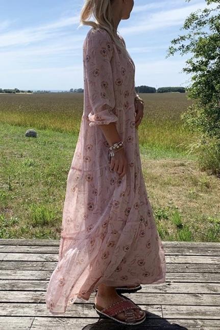 Nobis Powder Printed Dress