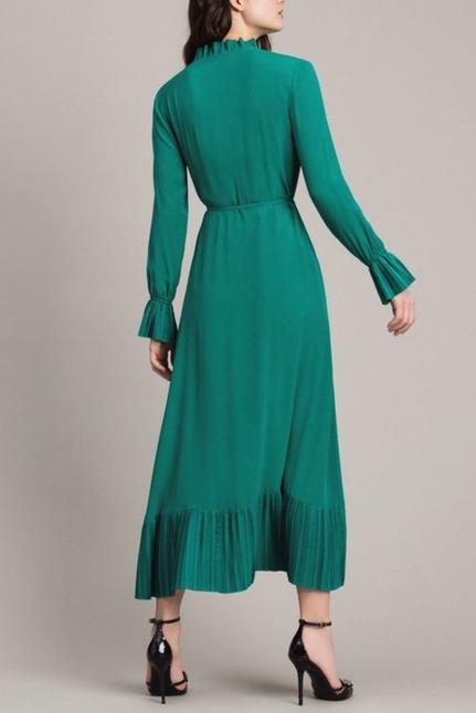 Silk blend wrap dress