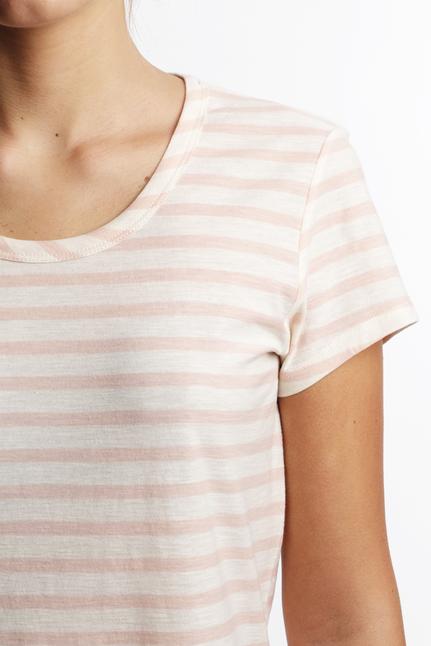 Maison Scotch T-Shirt Pink stripe