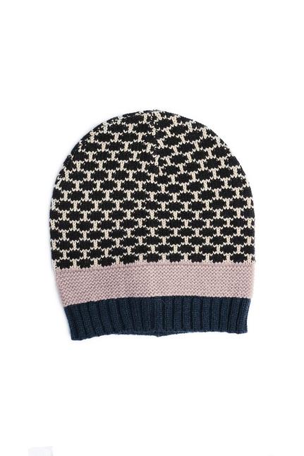Maya Dotted Mix Knit Beanie
