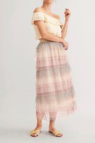 Akan Three Coloured Layerd Skirt