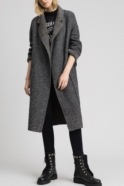 Patterned Reversible Coat