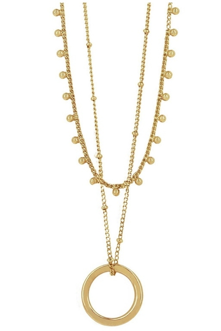 Indian Circle Necklace Goldplated
