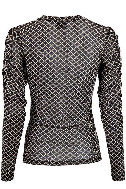 Ketter Graphic Mesh Blouse