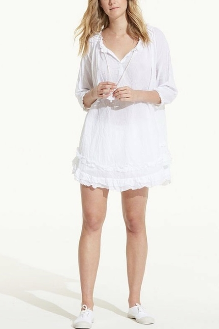 White Frilly Dress