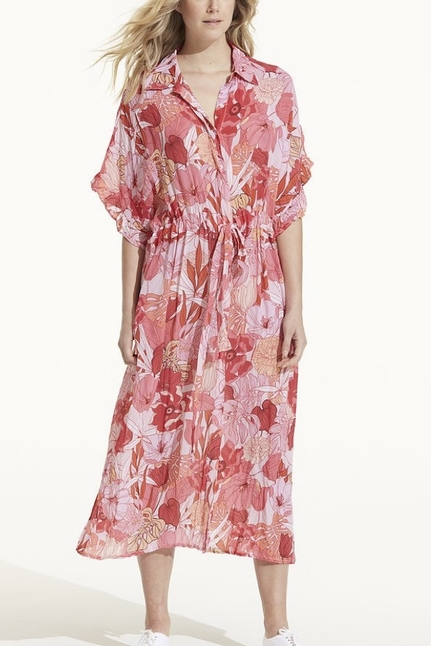 Jasmine Valencia Dress Coral