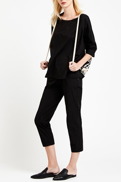 Flared Cotton Blouse