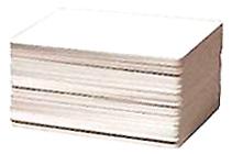 500 st 54 x 96 mm Plastkort vit, utan magn remsa för ZPX1