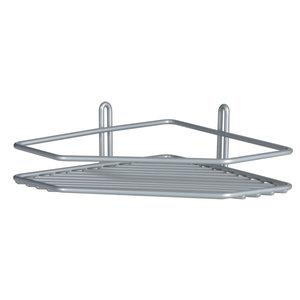 Półka łazienkowa narożna I srebrna