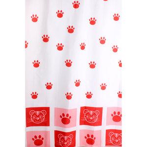 Zasłona łazienkowa CAT czerwona