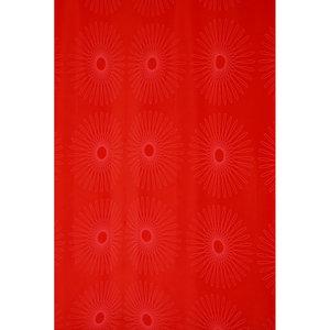 Zasłona łazienkowa FLOWER czerwona