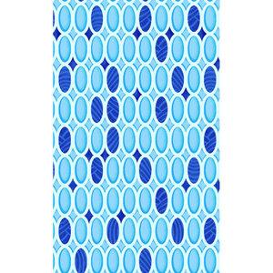 Zasłona łazienkowa STONES niebieska
