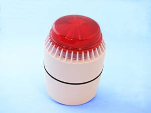 Red flashing light with siren