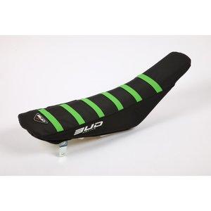 Bud Racing sadelöverdrag (Blk/Gre Str.)