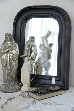 Ranskalainen peili, musta 40 * 30 cm