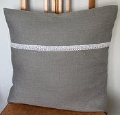 Tyynynpäällinen Linen lace grey