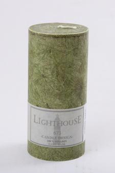 Cylinderljus Stearin Dark Green 70x150 mm