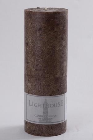 Cylinderljus Stearin Brown 70x200 mm