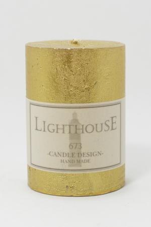 Cylinderljus Rustic Gold 70x100 mm