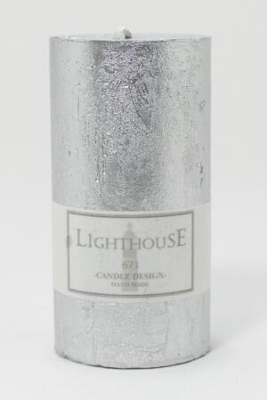 Cylinderljus Rustic Silver  60x120 mm