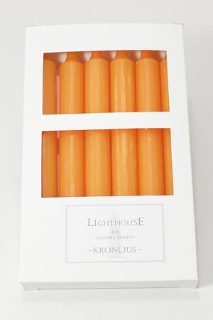 Kronljus Halloween Orange 21x210 mm 6-p