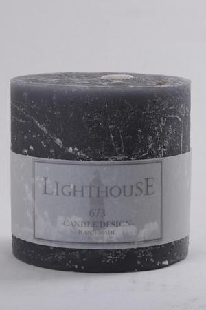 Cylinderljus Rustic Grey 100x100 mm