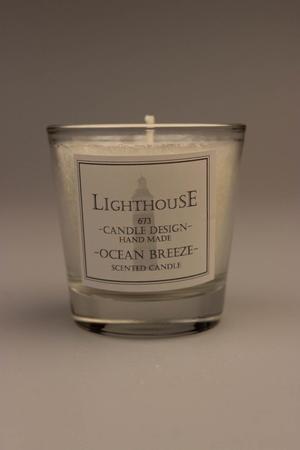 Doftljus i Glas White/Ocean Breeze 63x63 mm