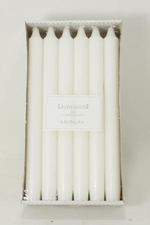 Kronljus White 22x250 mm 12-p
